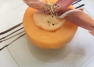 Melon Givré, Gressin au Jambon de Parme