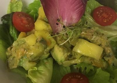 Salade de Haddock, Mangue et Avocat